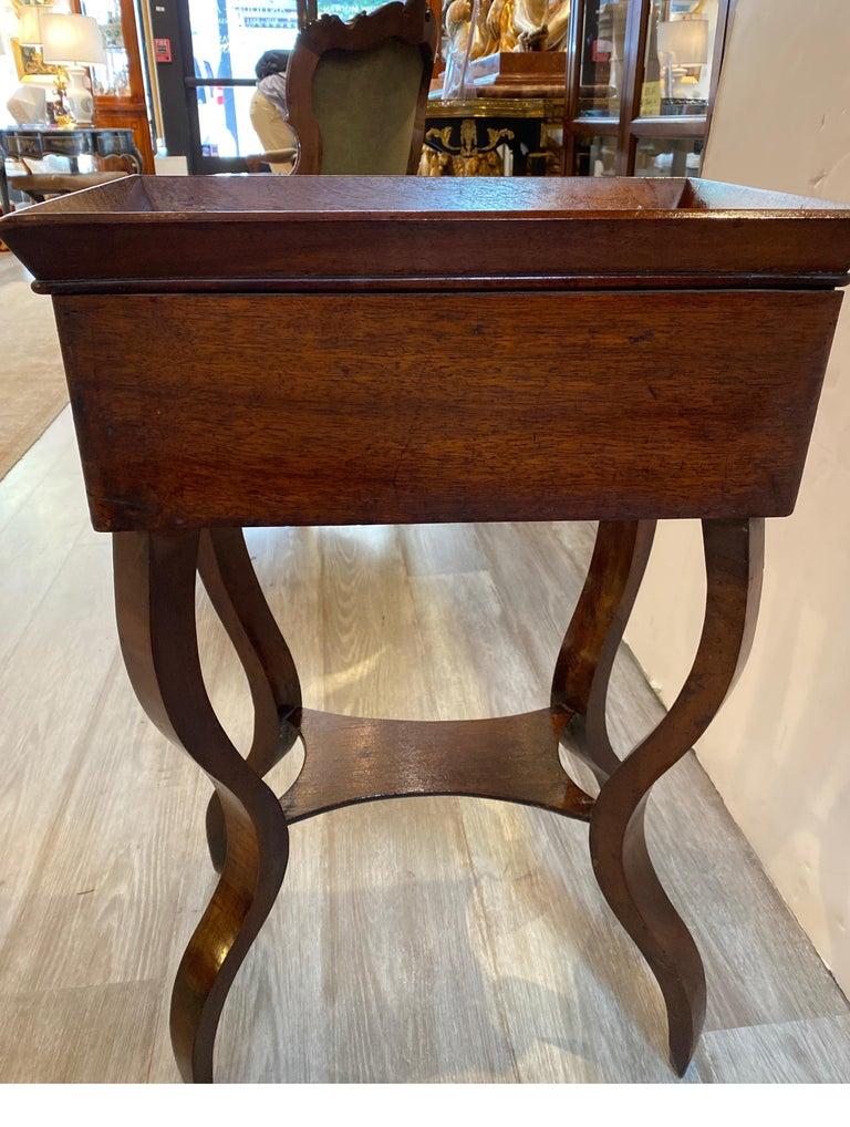 Italian 19th Century Walnut Side Table For Sale 5