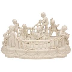 Italian 19th Century White Porcelain Centerpiece, Signed Bassano