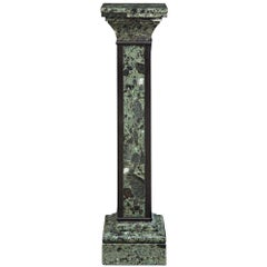 Italian 19th Century XVI Style Marble Pedestal with a Swivel Top