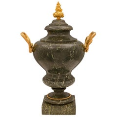 Italian 19th Neoclassical Scagloiola and Ormolu Urn