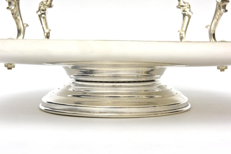 Late 20th Century  2-Tiered Swivel Silver Plate Serving Caddy or Serving Piece For Sale