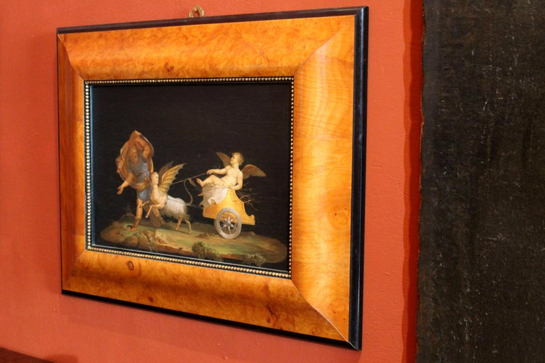 Italian 20th Century Classic Style Tempera on Wood Panels Mythological Paintings For Sale 6