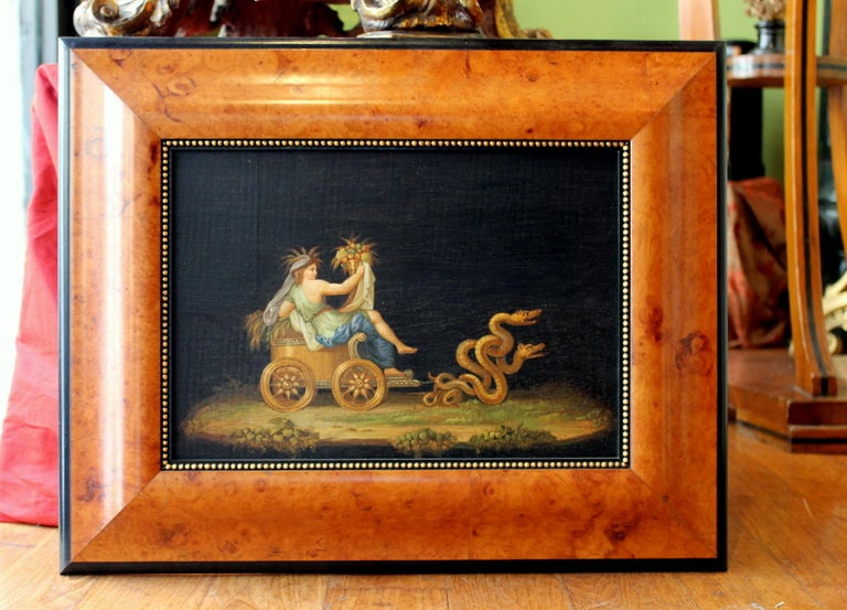 Italian 20th Century Classic Style Tempera on Wood Panels Mythological Paintings For Sale 3