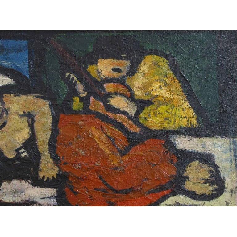 Italian, 20th Century Signed Oil on Canvas Painting by Oscar Barblan For Sale 4