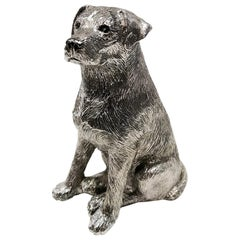 Italian Sterling Silver Dog Labrador Retriever by Arval Argenti Valenza