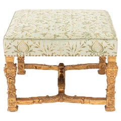 Italian 22-Karat Gold Leaf Carved Wood Bench