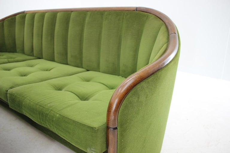 Italian 3-Seat Sofa in the Style of Gio Ponti, 1950s In Good Condition For Sale In Barcelona, ES