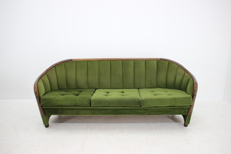 Mid-20th Century Italian 3-Seat Sofa in the Style of Gio Ponti, 1950s For Sale