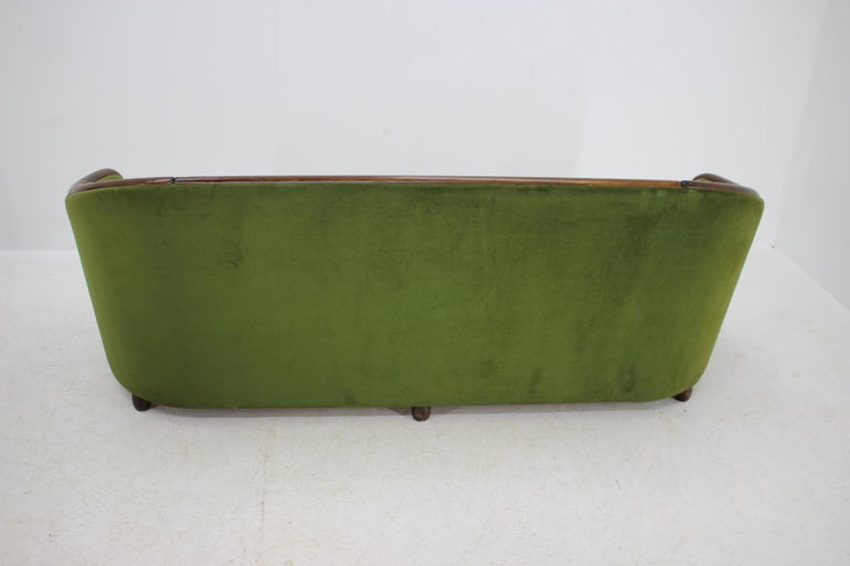 Wood Italian 3-Seat Sofa in the Style of Gio Ponti, 1950s For Sale