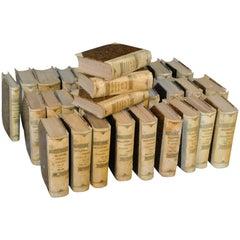Italian 34 Volume Set of Encyclopedias