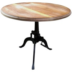 Italian 40s Adjustable Industrial Table