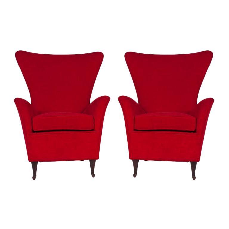 Italian 50s Armchairs For Sale