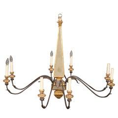 Italian 8-Arm Mid-Century Modern Hollywood Regency Style Chandelier