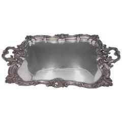 Italian .950 Silver Tea Tray Louis XV Style Rococo Border 147.5ozt, circa 1815