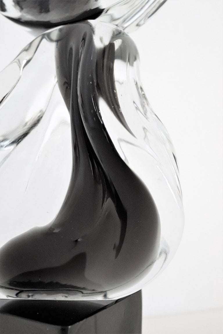 Italian Abstract Murano Glass Sculpture by Livio Seguso, 1970s For Sale 9