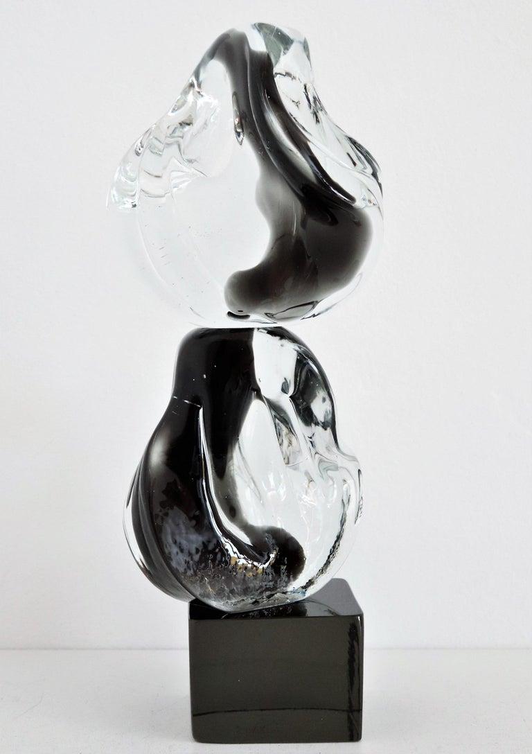 Modern Italian Abstract Murano Glass Sculpture by Livio Seguso, 1970s For Sale