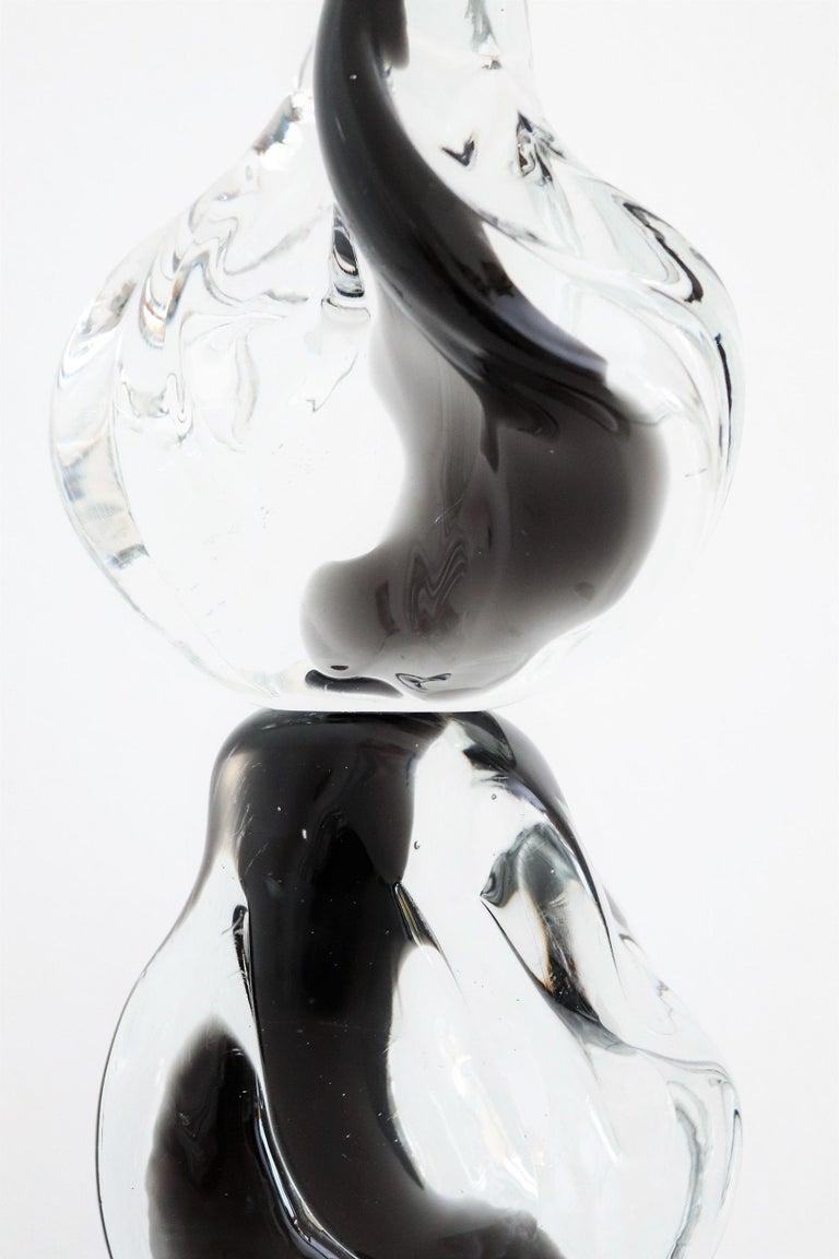 Italian Abstract Murano Glass Sculpture by Livio Seguso, 1970s In Good Condition For Sale In Clivio, Varese