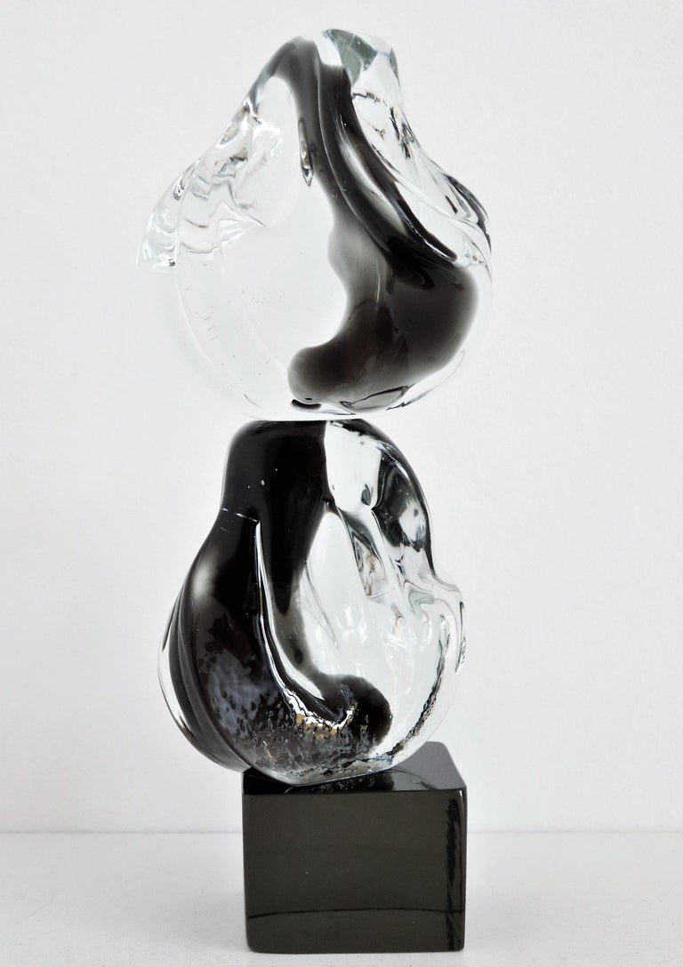 Italian Abstract Murano Glass Sculpture by Livio Seguso, 1970s For Sale 1