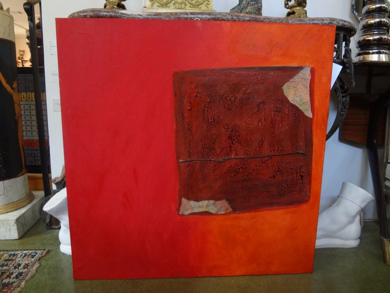 Italian Abstract Oil on Canvas by Fausta Dossi, Milan, circa 2005 For Sale 7