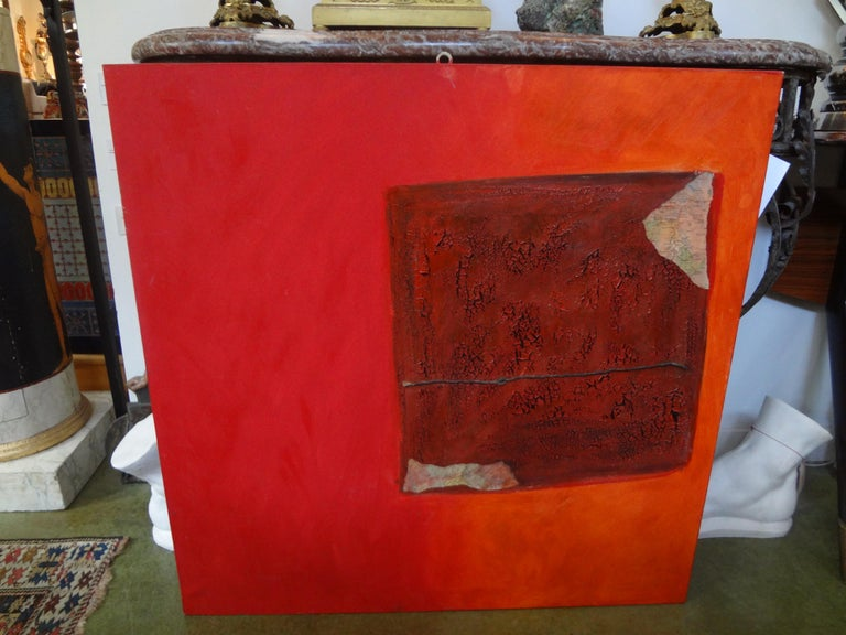 Stunning abstract oil on canvas by noted Italian artist from Milan, Fausta Dossi, dated 2005. Title: Abbandono Copy of artist's gallery catalog included with the sale. See attached photo. Fausta Dossi's work is an open field in which actions
