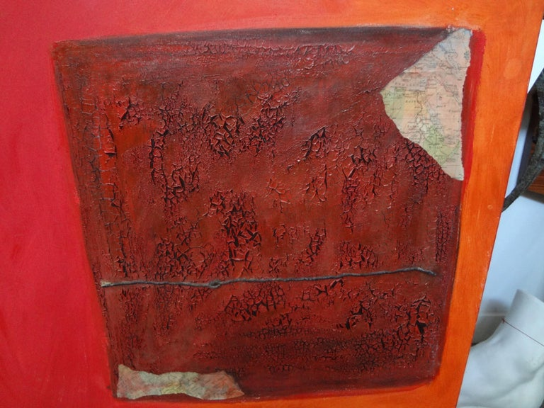 Modern Italian Abstract Oil on Canvas by Fausta Dossi, Milan, circa 2005 For Sale