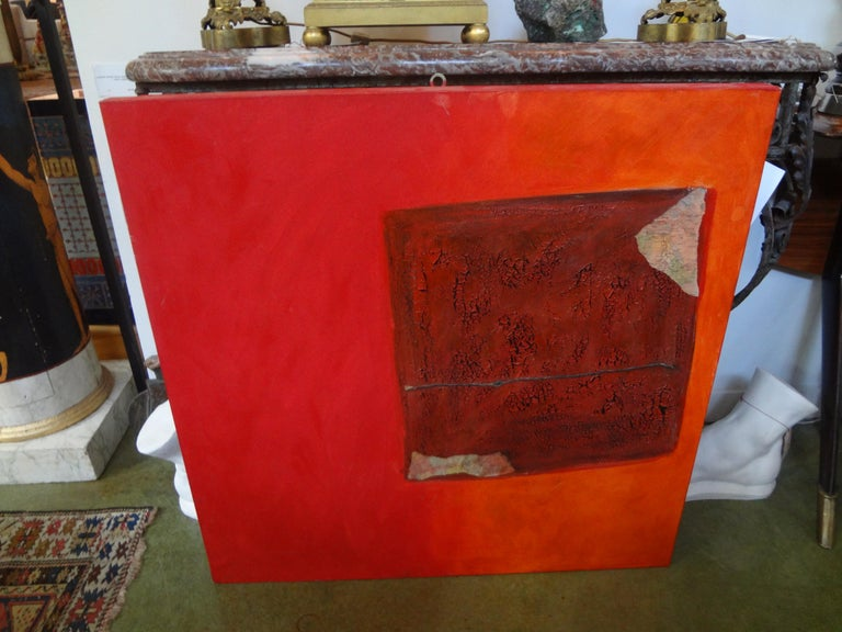 Contemporary Italian Abstract Oil on Canvas by Fausta Dossi, Milan, circa 2005 For Sale