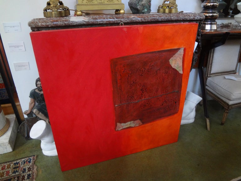 Italian Abstract Oil on Canvas by Fausta Dossi, Milan, circa 2005 For Sale 1