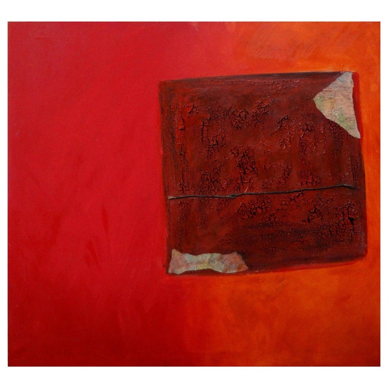 Italian Abstract Oil on Canvas by Fausta Dossi, Milan, circa 2005 For Sale