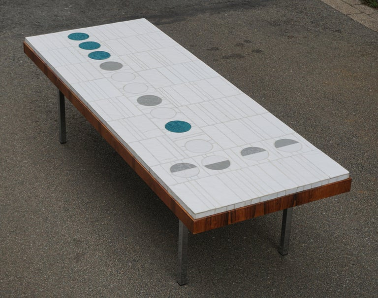 Italian Abstract Tile Coffee Table in the Style of Pia Manu In Good Condition For Sale In Antwerp, BE