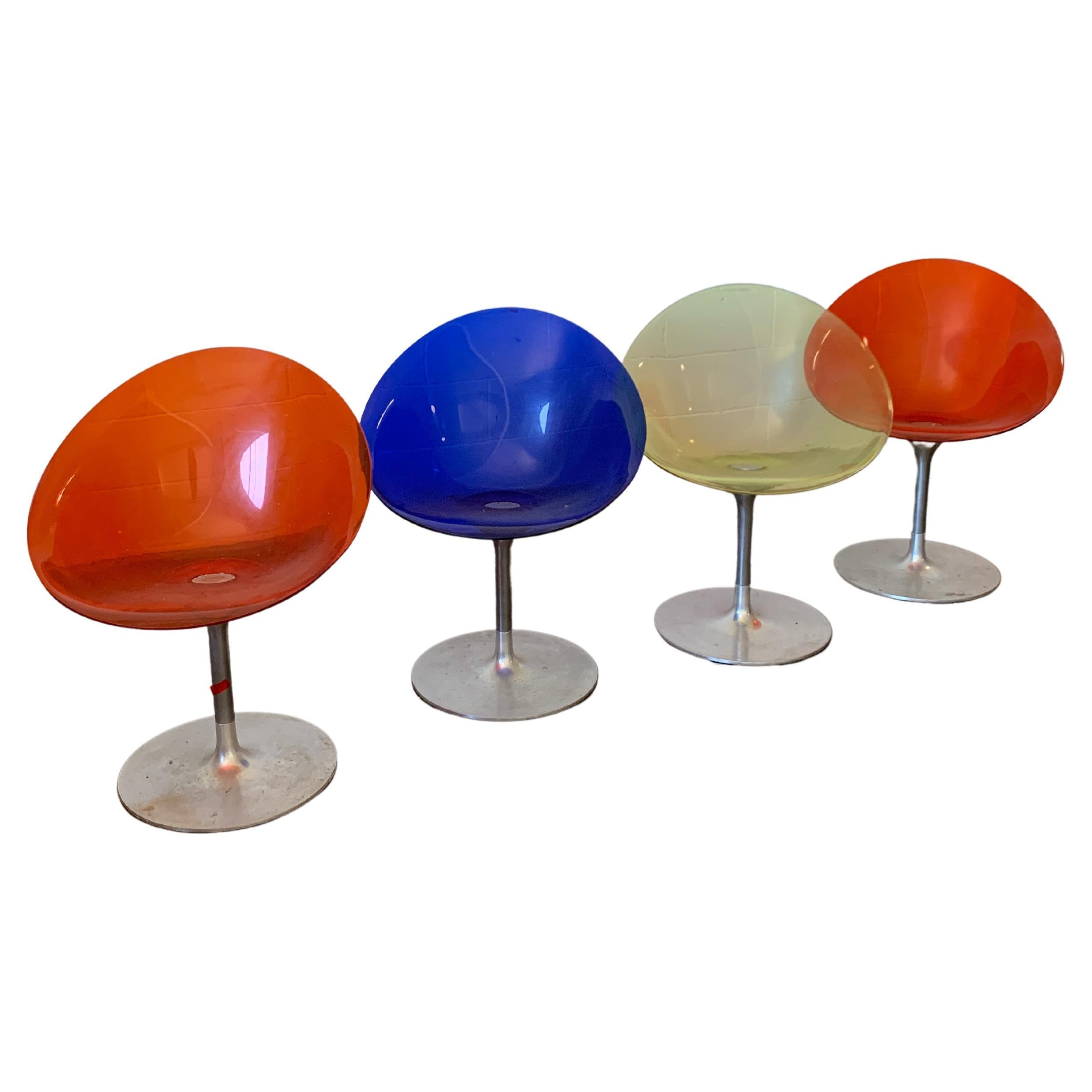 Italian Acrylic Swivel Chairs by Philippe Starck for Kartell