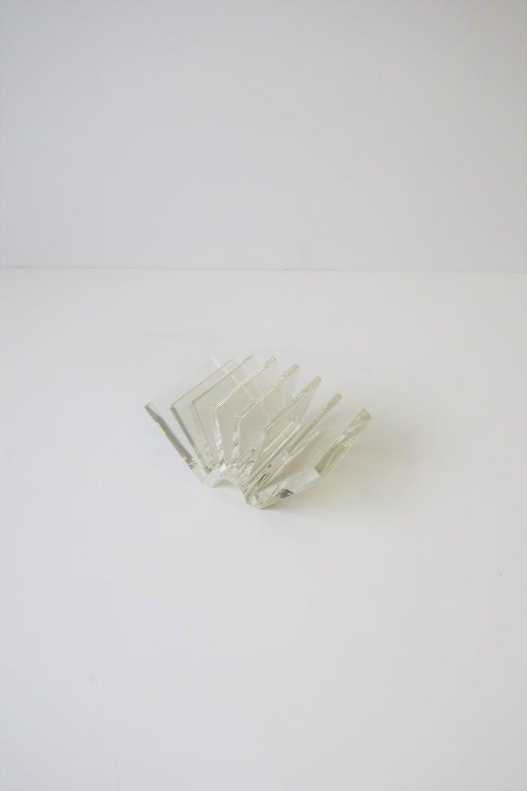 Post-Modern Italian Acrylic Business Card Holder or Desk Organizer By Guzzini For Sale