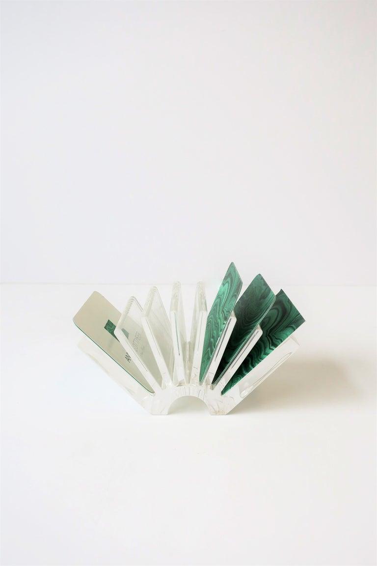 Italian Acrylic Business Card Holder or Desk Organizer By Guzzini For Sale 2