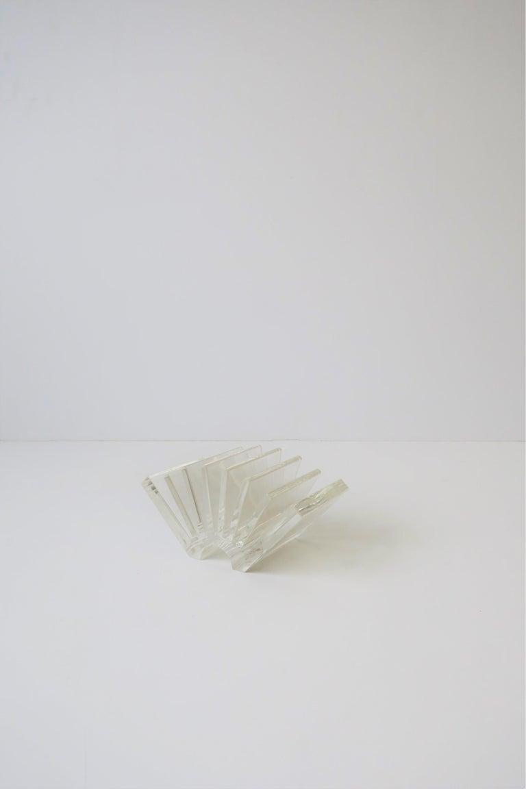 Italian Acrylic Business Card Holder or Desk Organizer By Guzzini For Sale 4