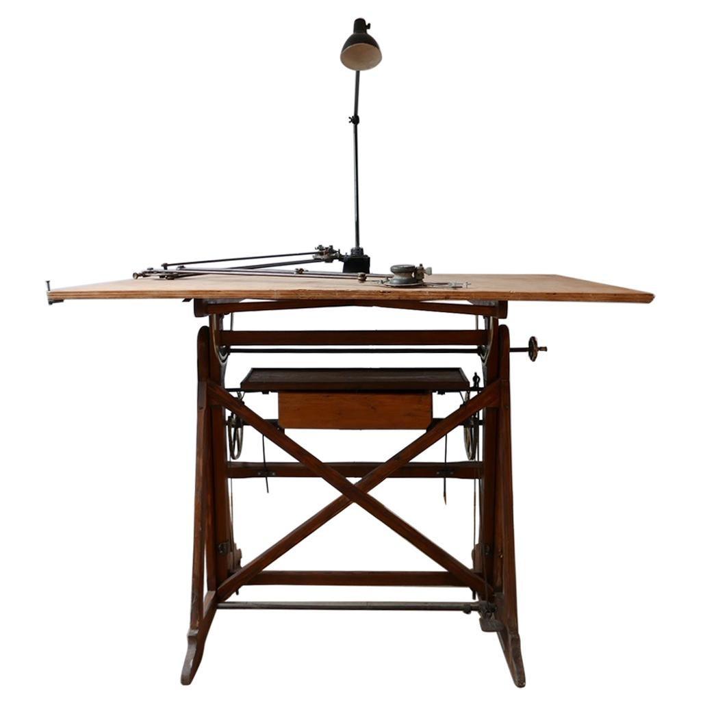 Italian Adjustable Architects Desk