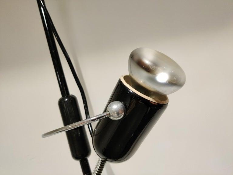 Italian Adjustable Floor Lamp by Francesco Fois for Reggiani, 1960s For Sale 4