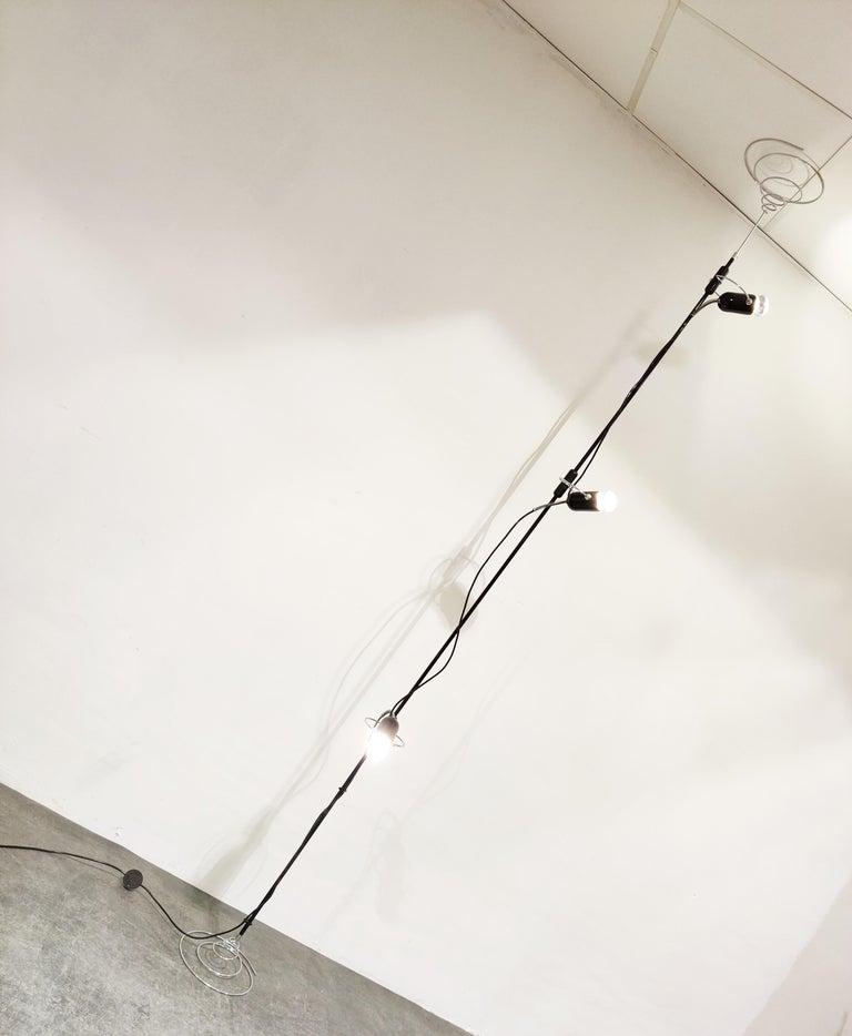 Space Age Italian Adjustable Floor Lamp by Francesco Fois for Reggiani, 1960s For Sale