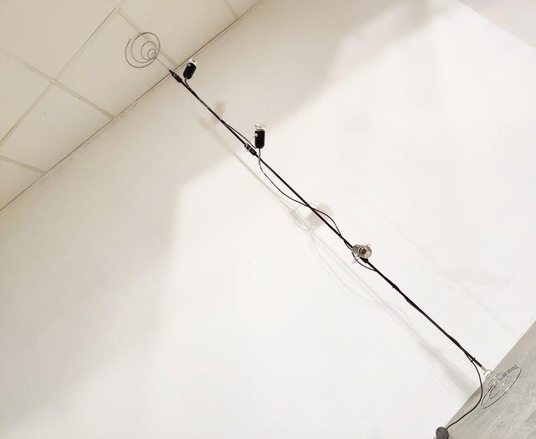 Italian Adjustable Floor Lamp by Francesco Fois for Reggiani, 1960s In Good Condition For Sale In Ottenburg, BE