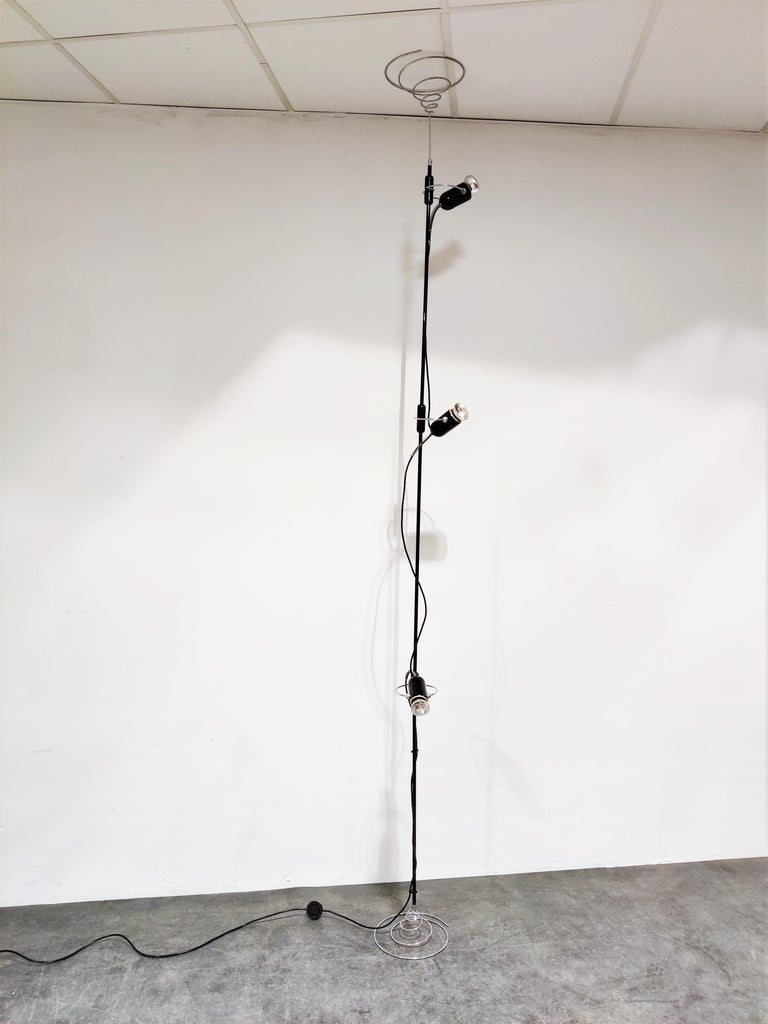 Mid-20th Century Italian Adjustable Floor Lamp by Francesco Fois for Reggiani, 1960s For Sale