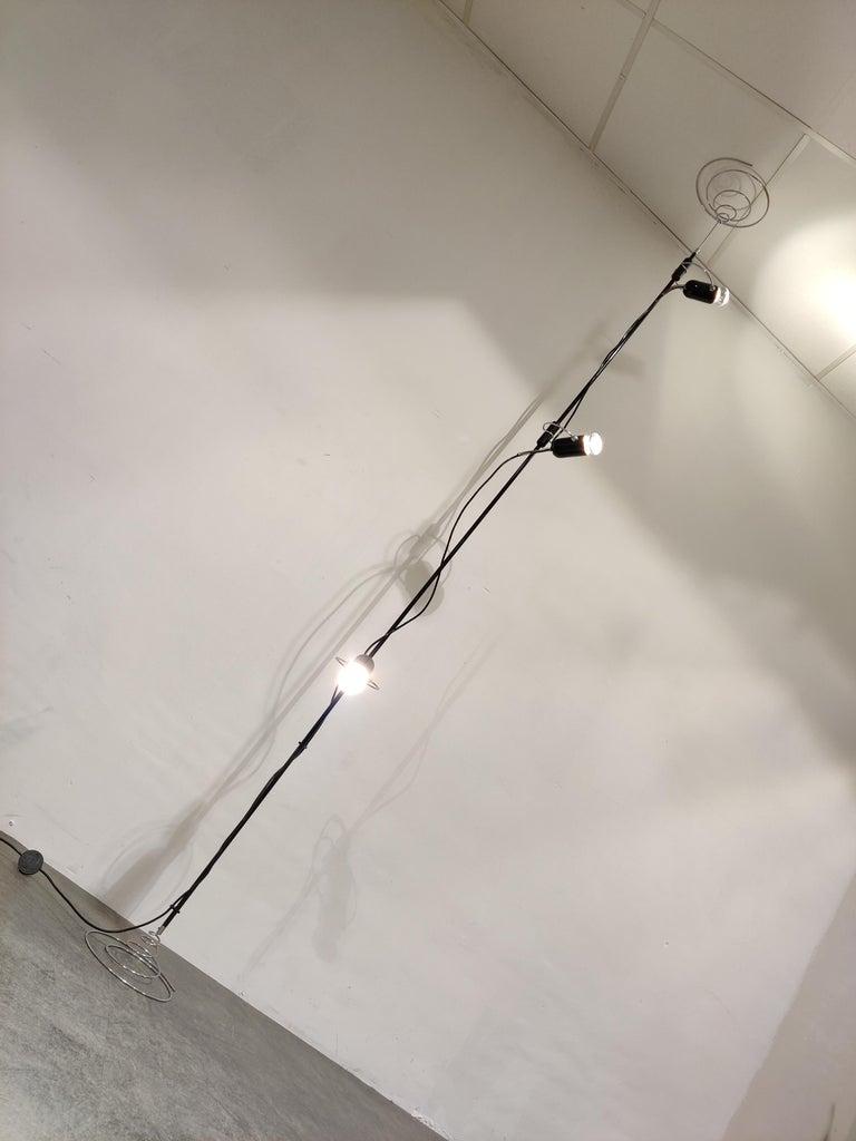 Italian Adjustable Floor Lamp by Francesco Fois for Reggiani, 1960s For Sale 2
