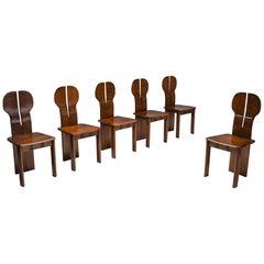 "Italian Afra & Tobia Scarpa ""Africa"" Dining Chairs for Maxalto, circa 1975"