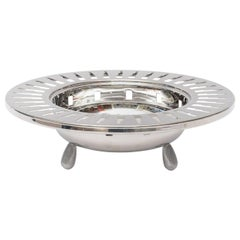 Italian Alessi Stainless Steel Cutout Skyscraper Footed Bowl