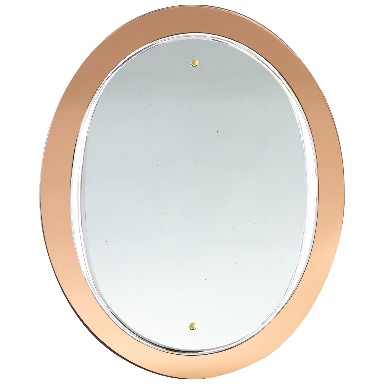 Italian Amber Glass Mirror