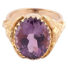 Italian Amethyst Gold Bishop's Ring