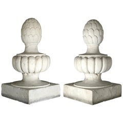 Italian Ancient Marble Pair of Pinnacles, circa 1850