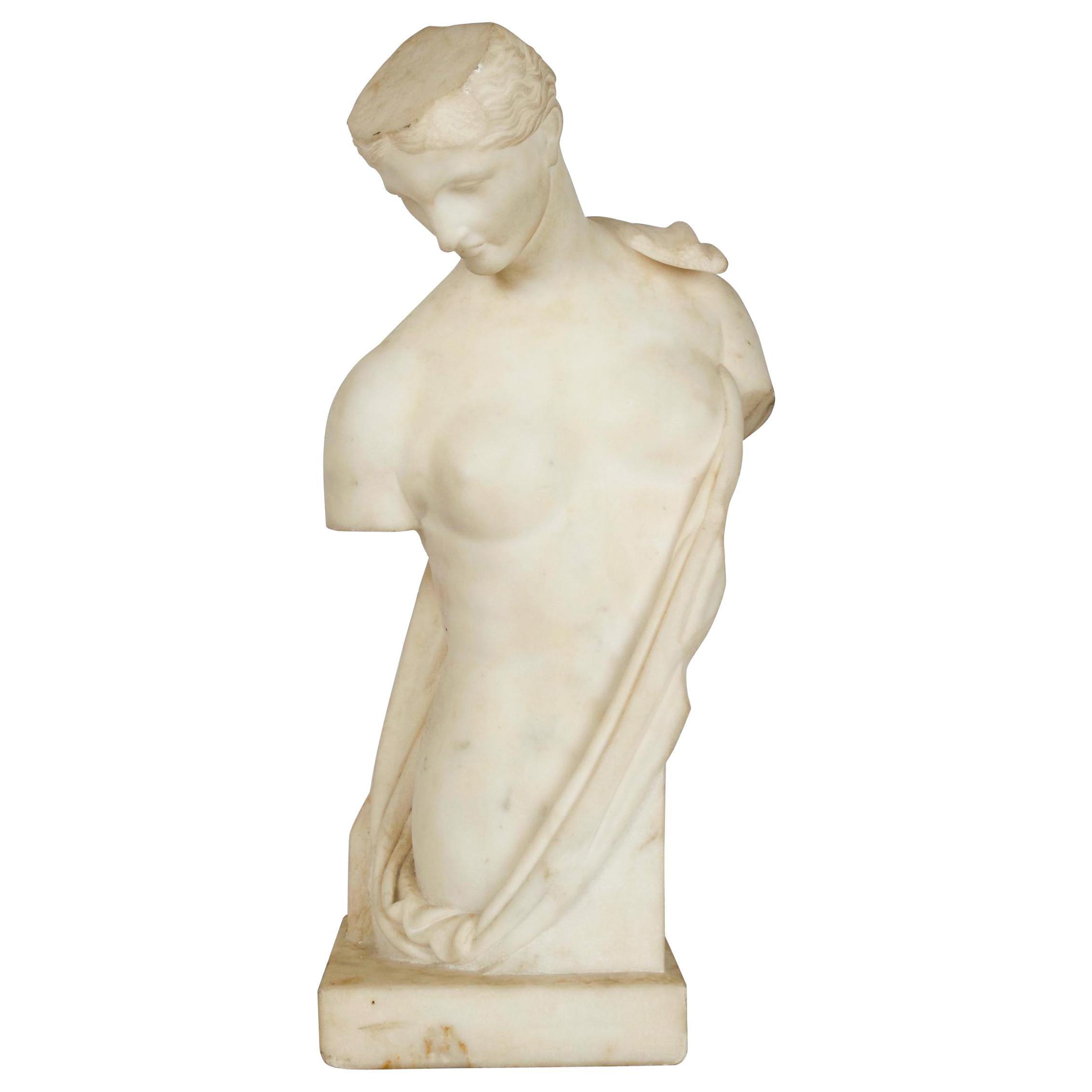 "Italian Antique Marble Bust Sculpture ""Psyche of Capua"", 19th Century"