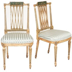 Italian Antique Painted Side Chairs