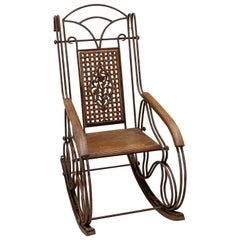 Italian Antique Rocking Chair