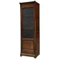 Italian Antique Solid Wood Cabinet Showcase, Earlier 1900