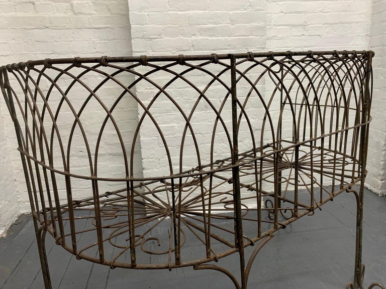 Italian Antique Wrought Iron Bench For Sale 1
