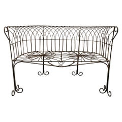 Italian Antique Wrought Iron Bench